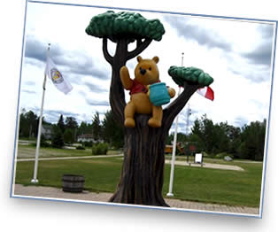 Winnie the Pooh Statue in White River, Ontario